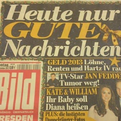 Bild-Zeitung: Nur gute NachrichtenBILD-Zeitung: Nur gute Nachrichten