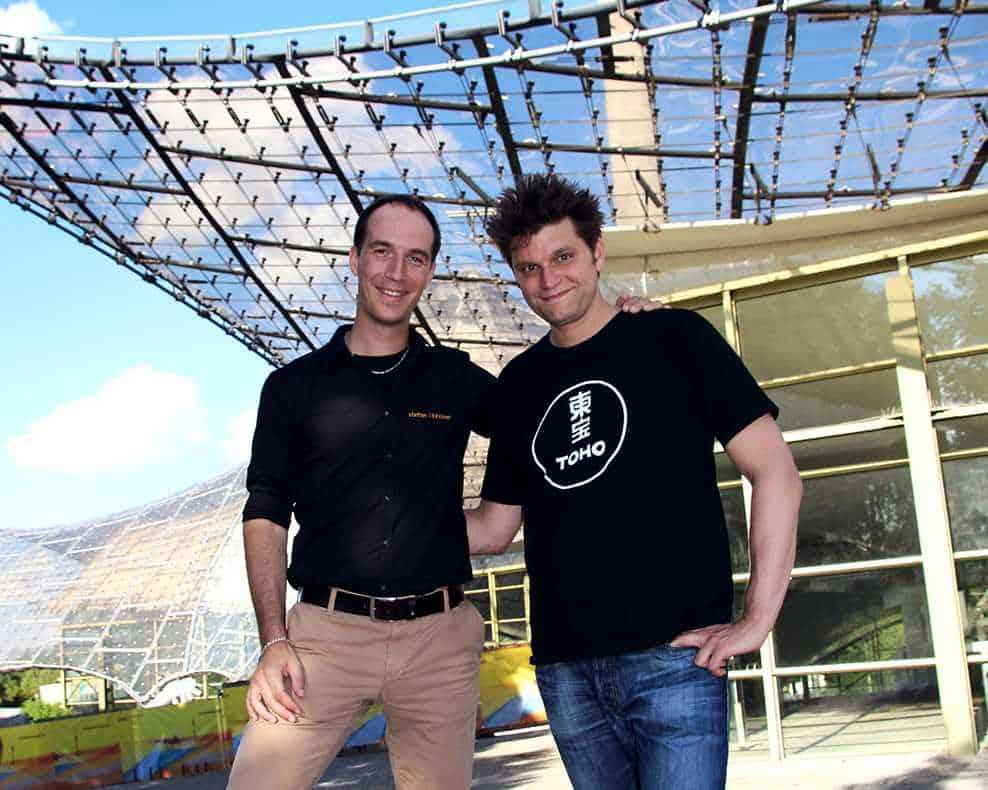 Der Moderator und sein Coach - Lutz van der Horst und Steffen Kirchner während ihrer Zusammenarbeit, um mutiger zu werden.